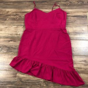 Chelsea28 Asymmetric Ruffle Hem Dress 20